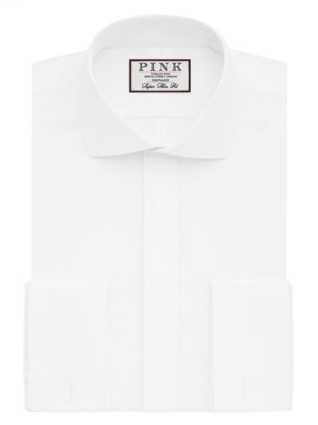 Thomas Pink Placket Evening Super Slim Double Cuff
