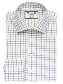 Thomas Pink Goodall Check Slim Fit Button Cuff Shirt