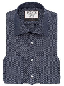 Thomas Pink Joseph Texture Slim Fit Double Cuff Shirt