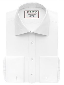 Joseph Texture Slim Fit Double Cuff Shirt