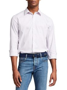 Thomas Pink Nelson Stripe Classic Fit Button Cuff Shirt