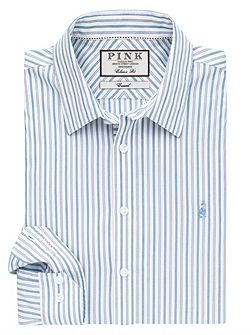 Nelson Stripe Classic Fit Button Cuff Shirt