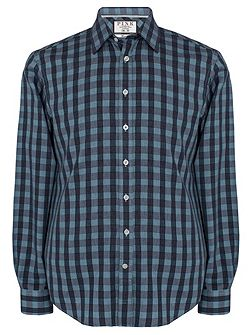 Austin Check Slim Fit Button Cuff Shirt
