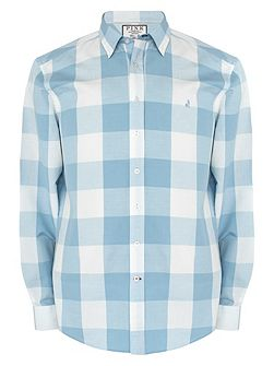 Richardson Check Classic Fit Button Cuff