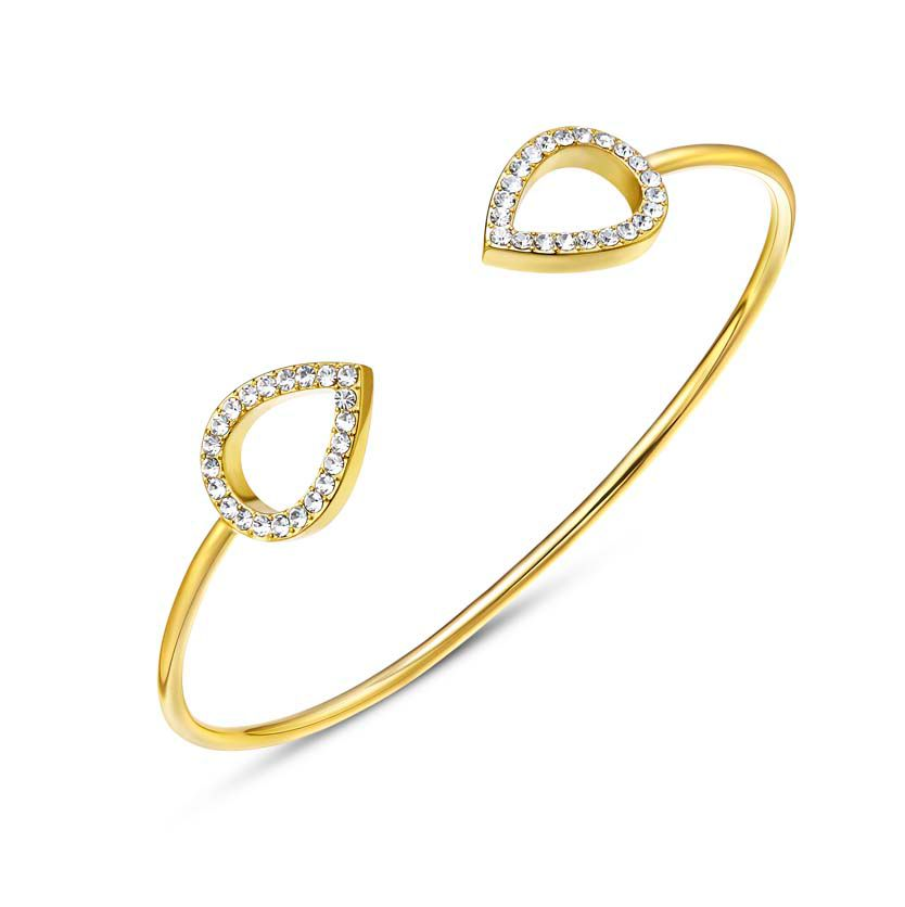 Kaytie Wu Gold Water Drop Crystal Bangle, N/A