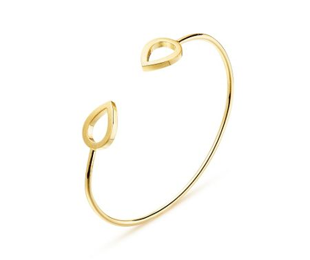 Kaytie Wu Gold Water Drop Bangle
