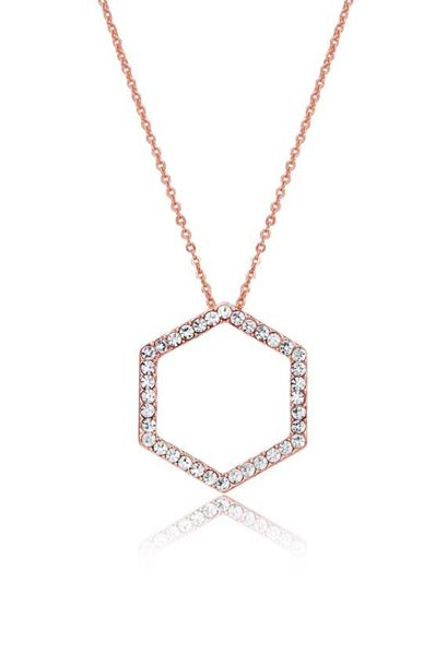 Kaytie Wu Rose Gold Hexagon Crystal Pendant