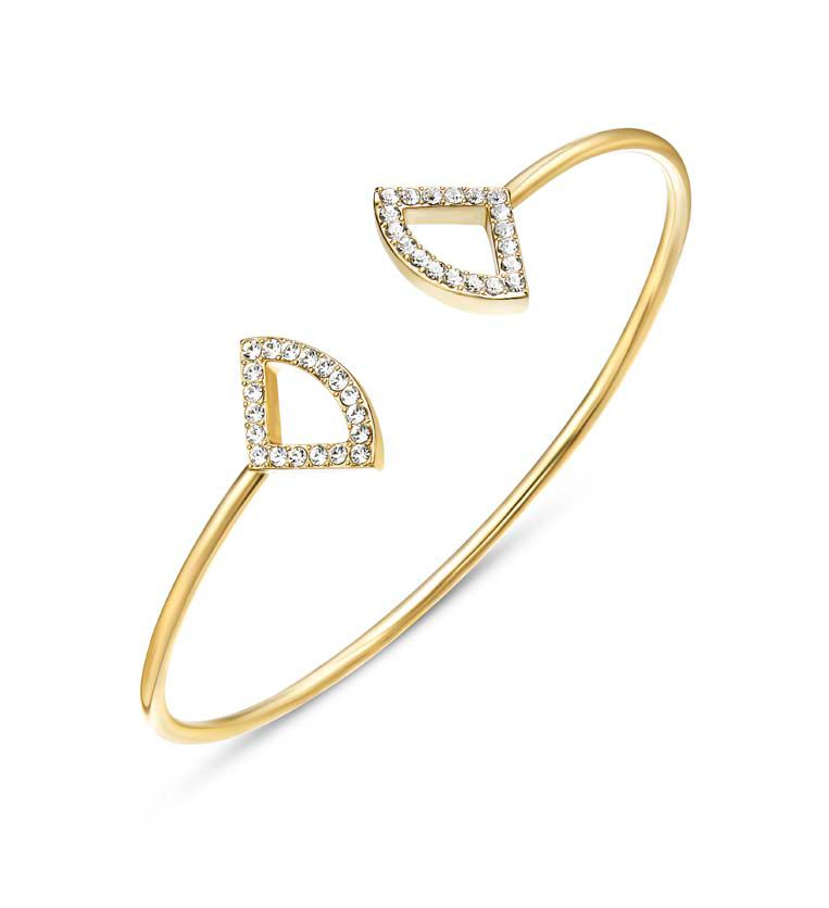Kaytie Wu Katie Gold Crystal Fan Bangle, N/A