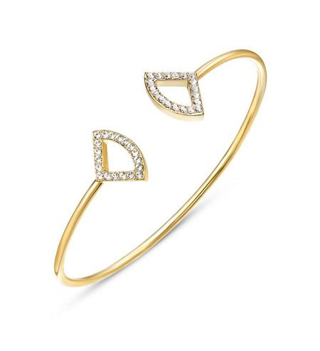 Kaytie Wu Katie Gold Crystal Fan Bangle