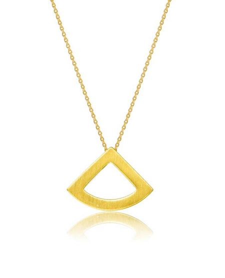 Kaytie Wu Gold Fan Necklace