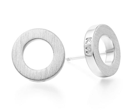 Kaytie Wu Silver Circle Earrings