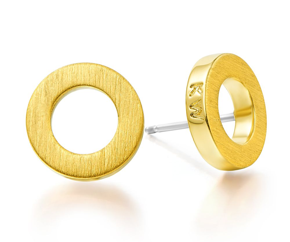 Kaytie Wu Gold Circle Earrings, N/A