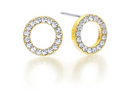 Kaytie Wu Gold Crystal Circle Earrings