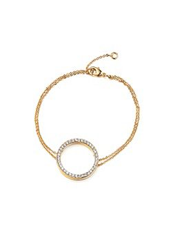 Gold Crystal Circle Bracelet