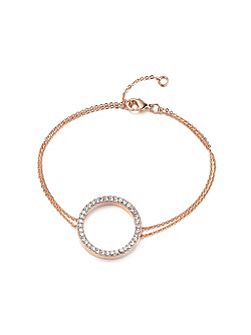 Rose Gold Crystal Circle Bracelet
