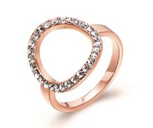 Kaytie Wu Rose Gold Crystal Ring