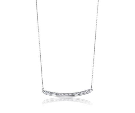 Kaytie Wu Silver Crystal Line Necklace