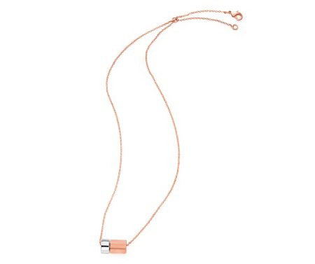 Kaytie Wu Matt Rose Gold and Silver Tube Necklace