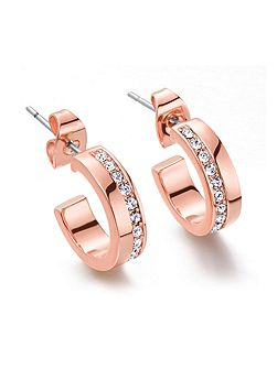 Rose gold Line Crystal Earrings