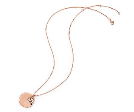 Kaytie Wu Rose Gold Weave Look Disc Pendant