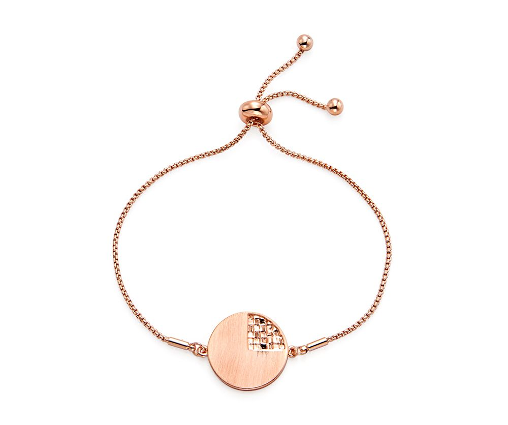 Kaytie Wu Rose Gold weaves Disc Bracelet, N/A