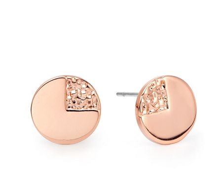 Kaytie Wu Rose Gold Weave Disc Earrings