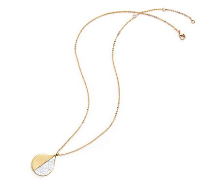 Kaytie Wu Gold Weave Look Water Drop Pendant