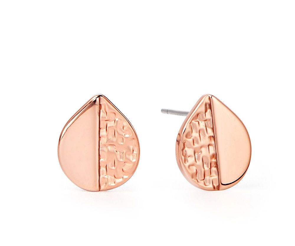 Kaytie Wu Rose Gold Weave Look Water Drop Earrings, N/A