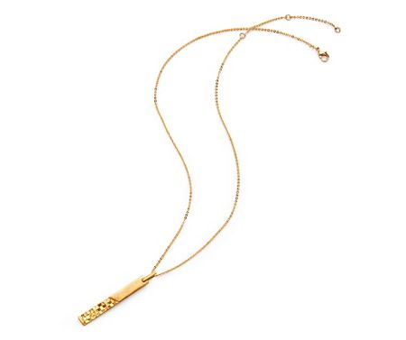 Kaytie Wu Gold Weave Look Line Necklace