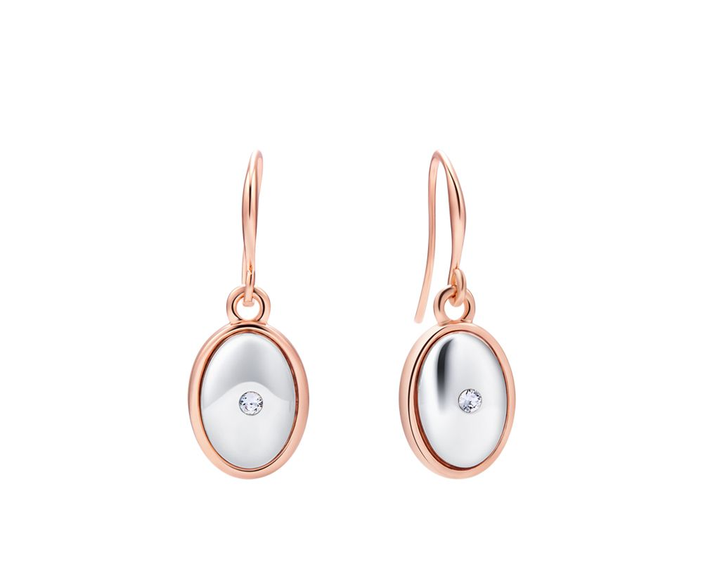 Kaytie Wu Two Tone Oval Earrings with Crystal, N/A
