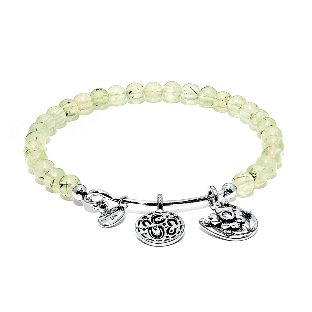 Guardian prehnite bangle