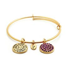 Good fortune amethyst crystal bangle
