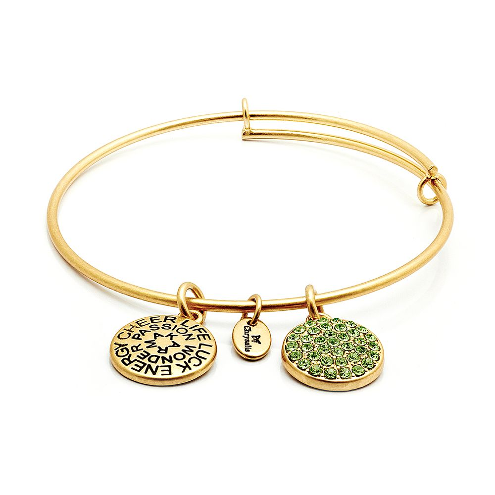 Good fortune peridot crystal bangle
