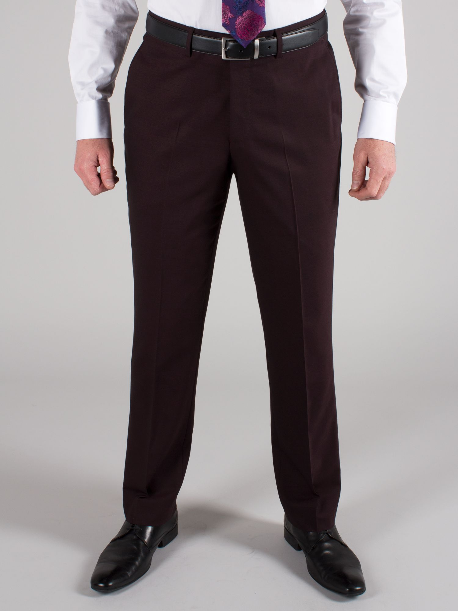 Plum plain trousers