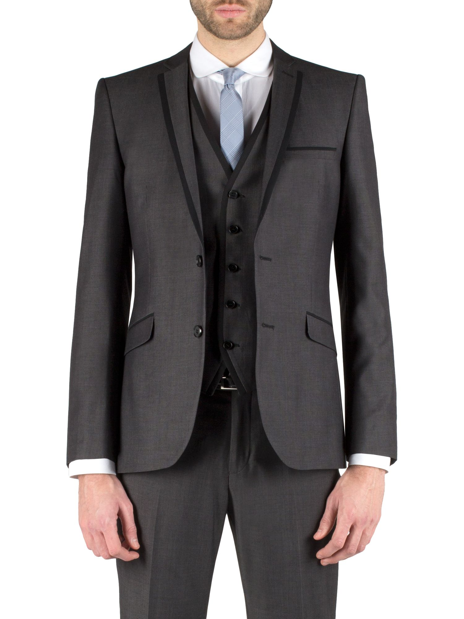 Micro design single breasted suit jacket