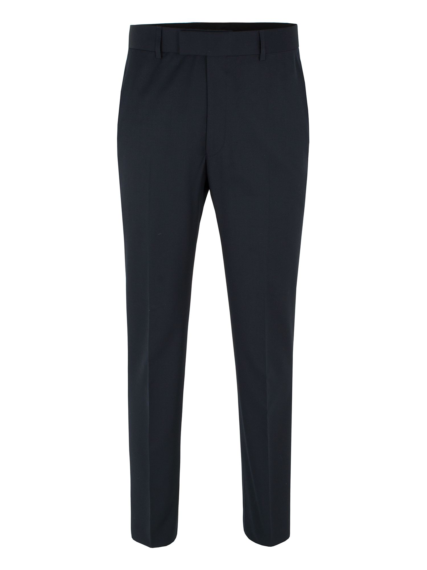 Navy plain twill trousers