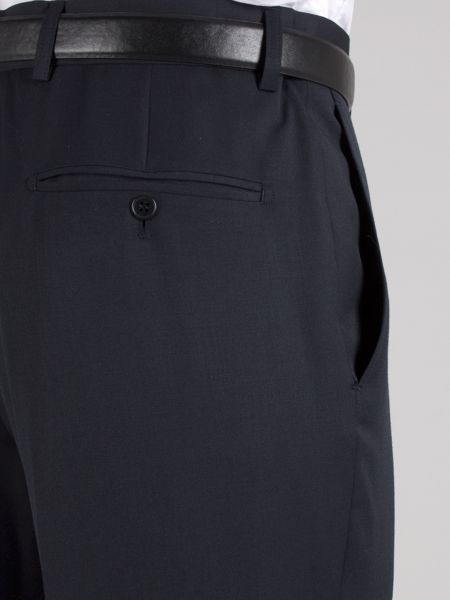 Racing Green Navy plain twill trousers