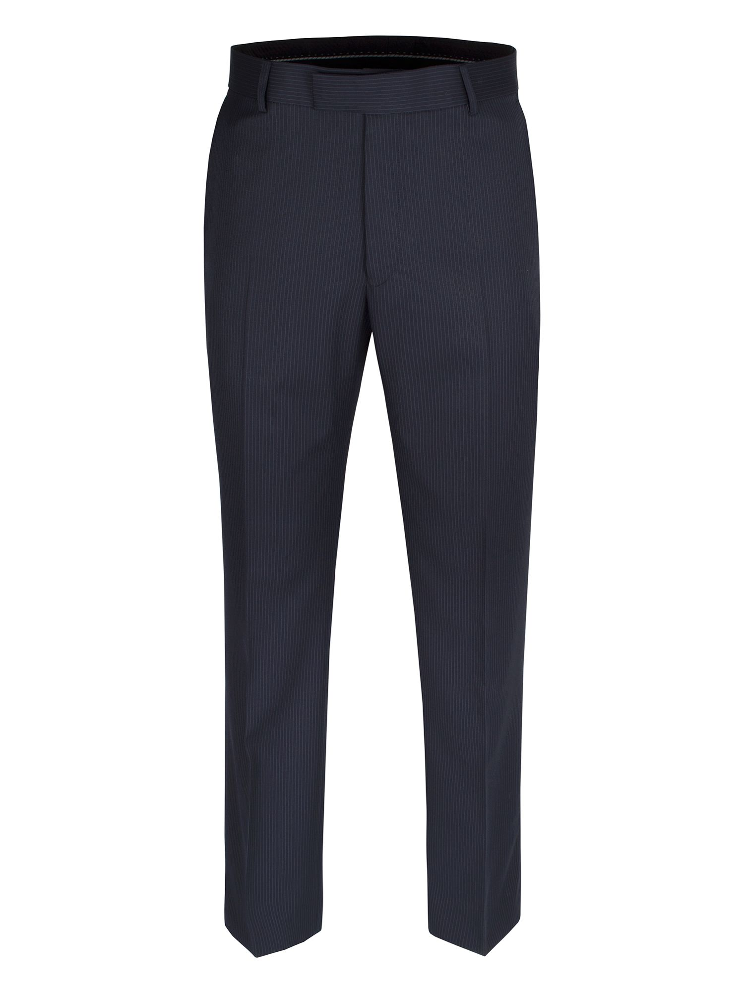 Navy pin stripe suit trouser