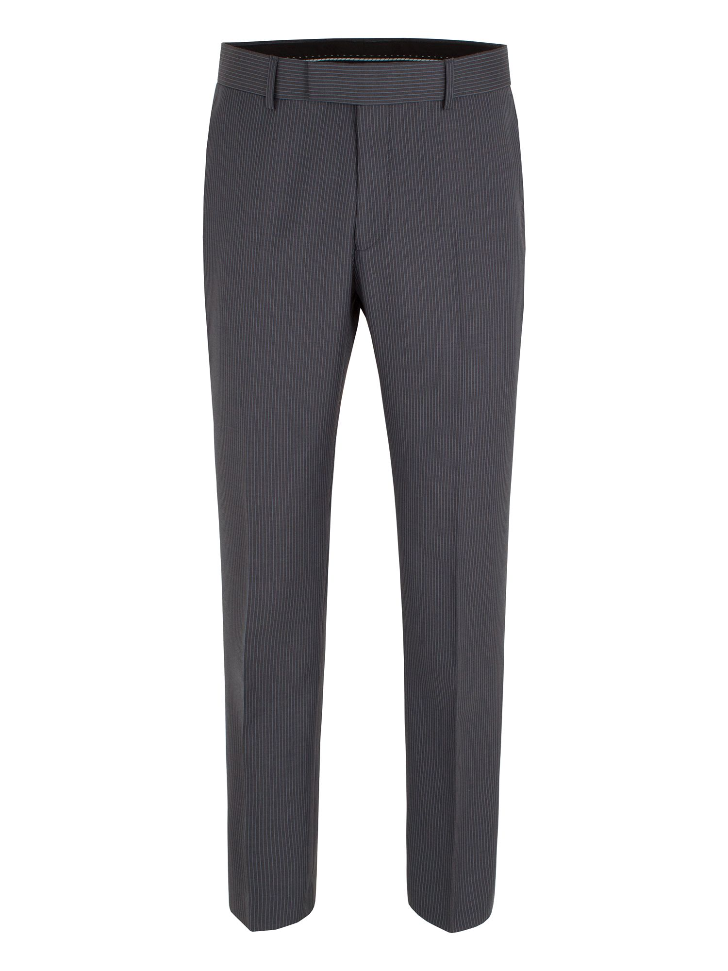 Grey blue stripe trouser