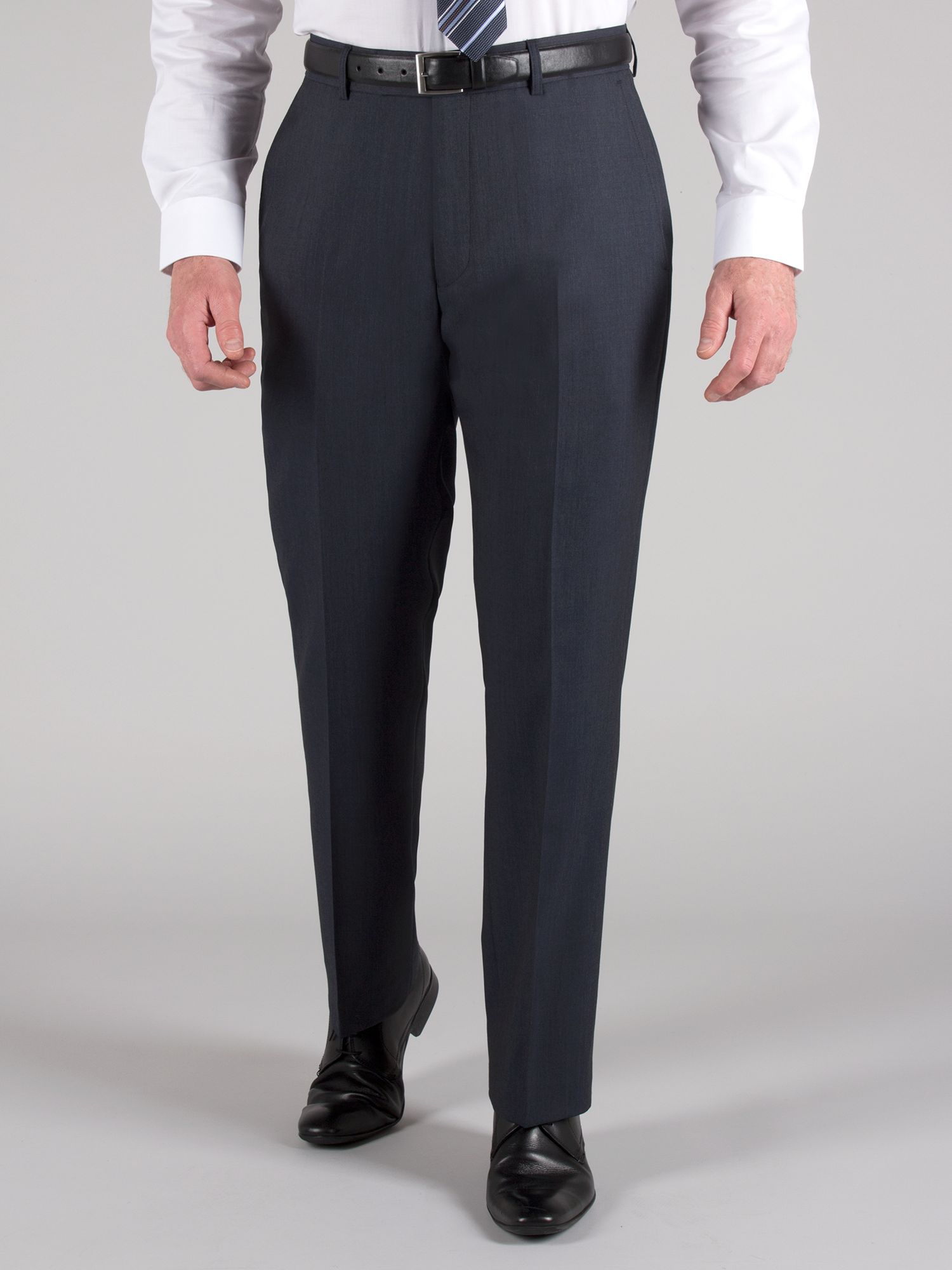 Navy tonic wool suit trouser