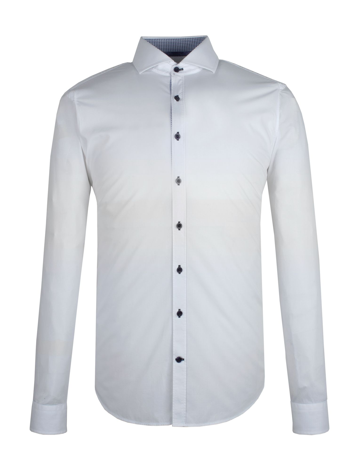 White poplin slim fit shirt