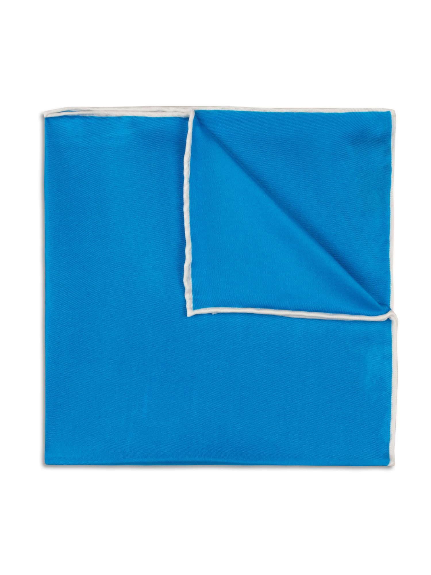 Bright blue hand rolled handkerchief