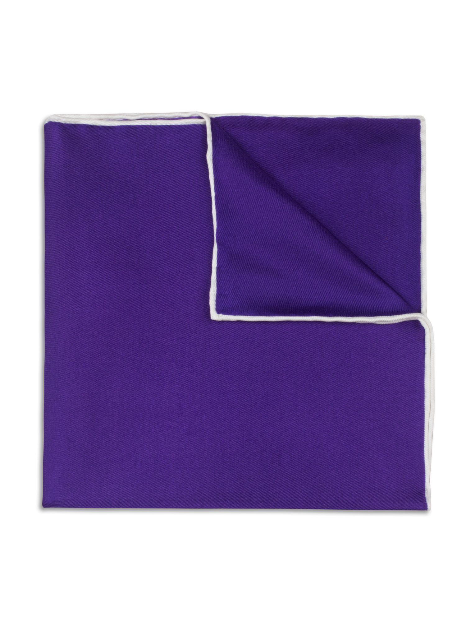Purple hand rolled handkerchief