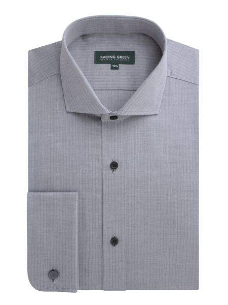 Racing Green Leadenhall herringbone easy care shirt