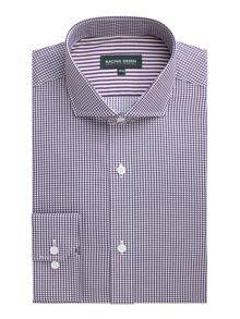 Barbican check non iron shirt