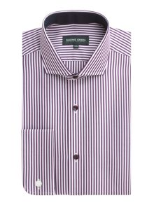 Racing Green Blomfield ombre stripe non iron shirt