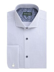 Racing Green Bartholomew squared dobby easy care shirt