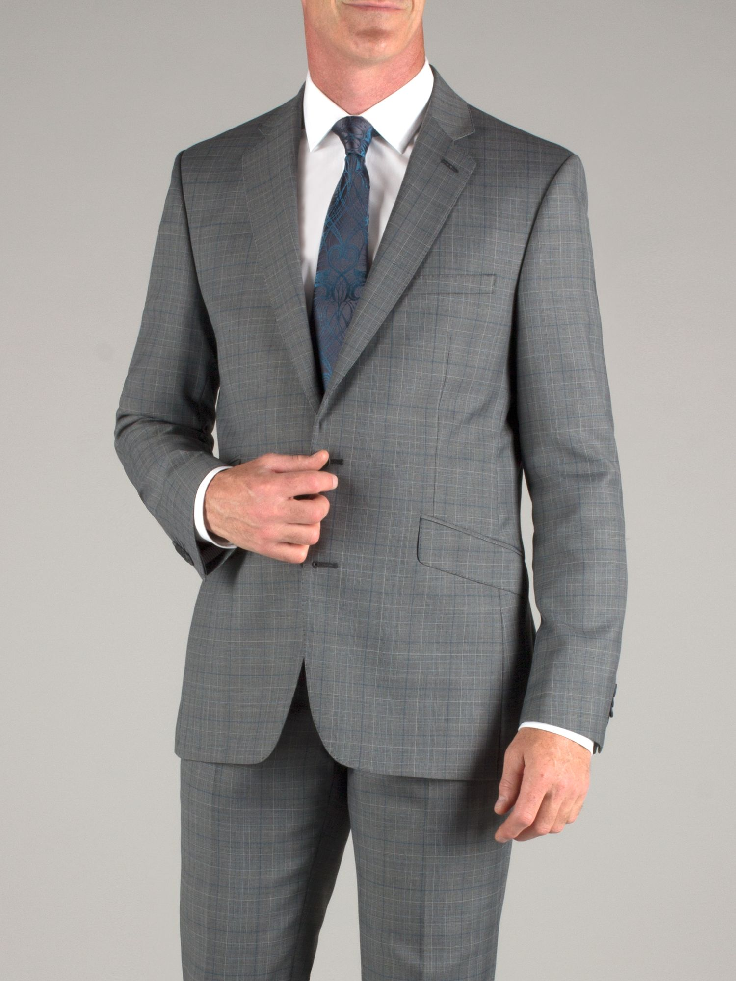 Grey teal check jacket