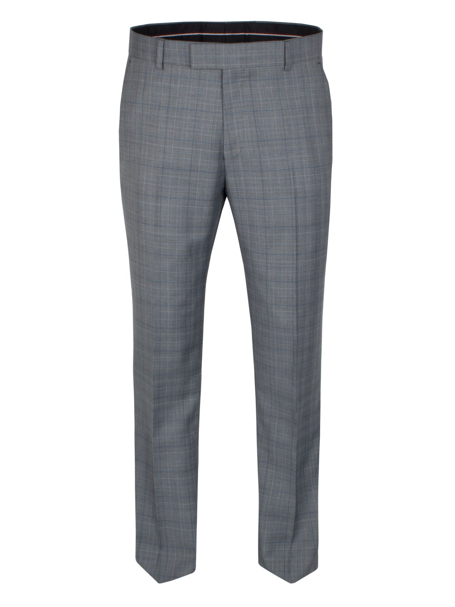 Grey teal check trouser