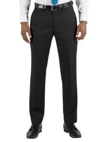 Plain black core trousers
